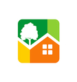 home garden ecology icon logo vector image