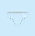 Men Swimming Trunks vector image