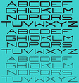 Modern simple font sans-serif light and bold type vector image