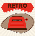 retro icon vector image