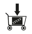 shopping cart sign black vector image
