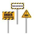 under construction icon set vector image