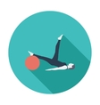 Yoga icon vector image