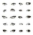 Woman eyes  Beautiful female eye set or ink vector image vector image