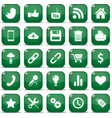icons for mobile phone vector image vector image