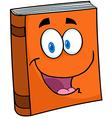 Text Book Cartoon Mascot Character vector image vector image