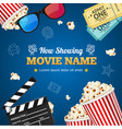 cinema background movie name vector image