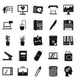 office workers icons set simple style vector image