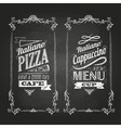 chalk drawings Menu Retro typography vector image
