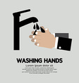 Washing Hands With Faucet vector image