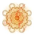 Oriental mandala motif mehndi paint karma vector image vector image
