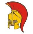 ancient soldier helmet vector image