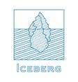 Iceberg in linear style Outline iceberg vector image