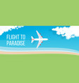 air travel banner vector image