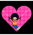 Disco cupid and heart vector image