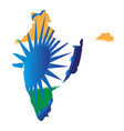 isolated map of india vector image