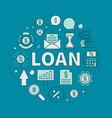 Loan circular colorful vector image