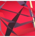 Retro geometric background with colorful triangles vector image