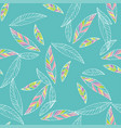 seamless trendy pattern design withleafs vector image