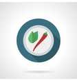 Spicy ingredients flat color round icon vector image