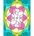 Stained glass window Floral pattern Composition of vector image
