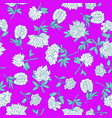 traditional peony pattern vector image