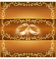 Wedding greeting or invitation card vector image