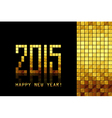 - Happy New Year 2015 - golden mosaic background vector image