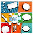 Comic book background vector image
