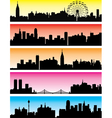 city backgrounds vector image vector image