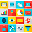 business analytics colorful icons vector image