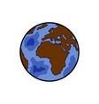 color sketch earth vector image