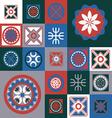 winter ornamental seamless design vector image