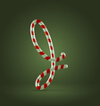 Candy cane abc j vector