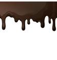 Dark chocolate drips background vector image
