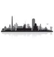 Yekaterinburg Russia city skyline silhouette vector image vector image