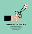 Surgical Scissors In Hand vector image