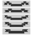 Set of retro ribbons Flat design vector image
