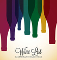 Bright wine list menu cover in format vector image vector image