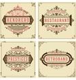Vintage logo templates Hotel Restaurant vector image