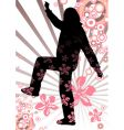 spring girl silhouette vector image vector image