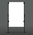 Blank roll up banner display vector image vector image