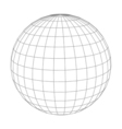 Abstract wireframe sphere globe on white isolated vector image
