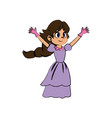 beautiful princess fairy tale fantasy dress vector image