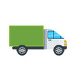 commercial van isolated icon vector image