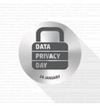 data privacy day lock sign vector image