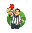 Fat Kid Referee vector image