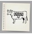 Scribble cow vector image