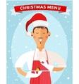 Special Christmas menu cook chef vector image