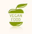 vegan or vegetarian badge vector image